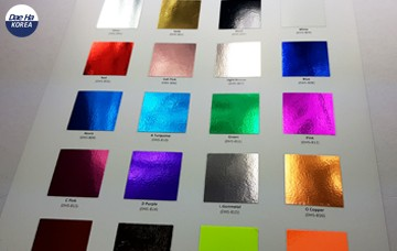 Soft Metallic Heat Transfer Film Gives 50 Colors & Patterns
